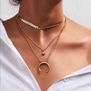 Golden necklaces bundle